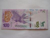100 Pesos, srnec-fialová, Argentina
