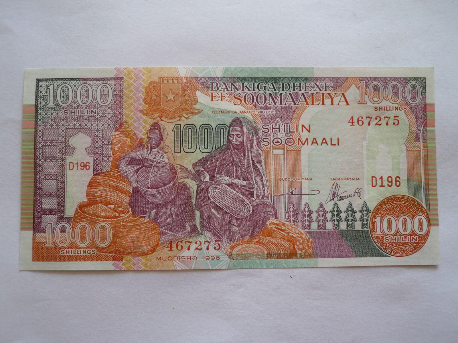 1000 Schillings, 1996 Somálsko