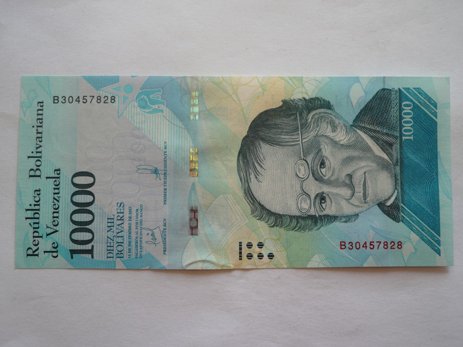 10000 Bolivares, 2017 Venezuela