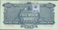 1000K/1944-kolek ČSR/, stav 0 perf. SPECIMEN nahoře, série AA