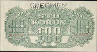 100K/1944-Táto/, stav 0 perf. SPECIMEN nahoře, série OB - číslovač Moskva I velká
