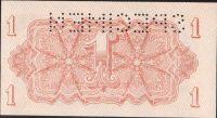 1K/1944/, stav UNC perf. SPECIMEN nahoře, série AA