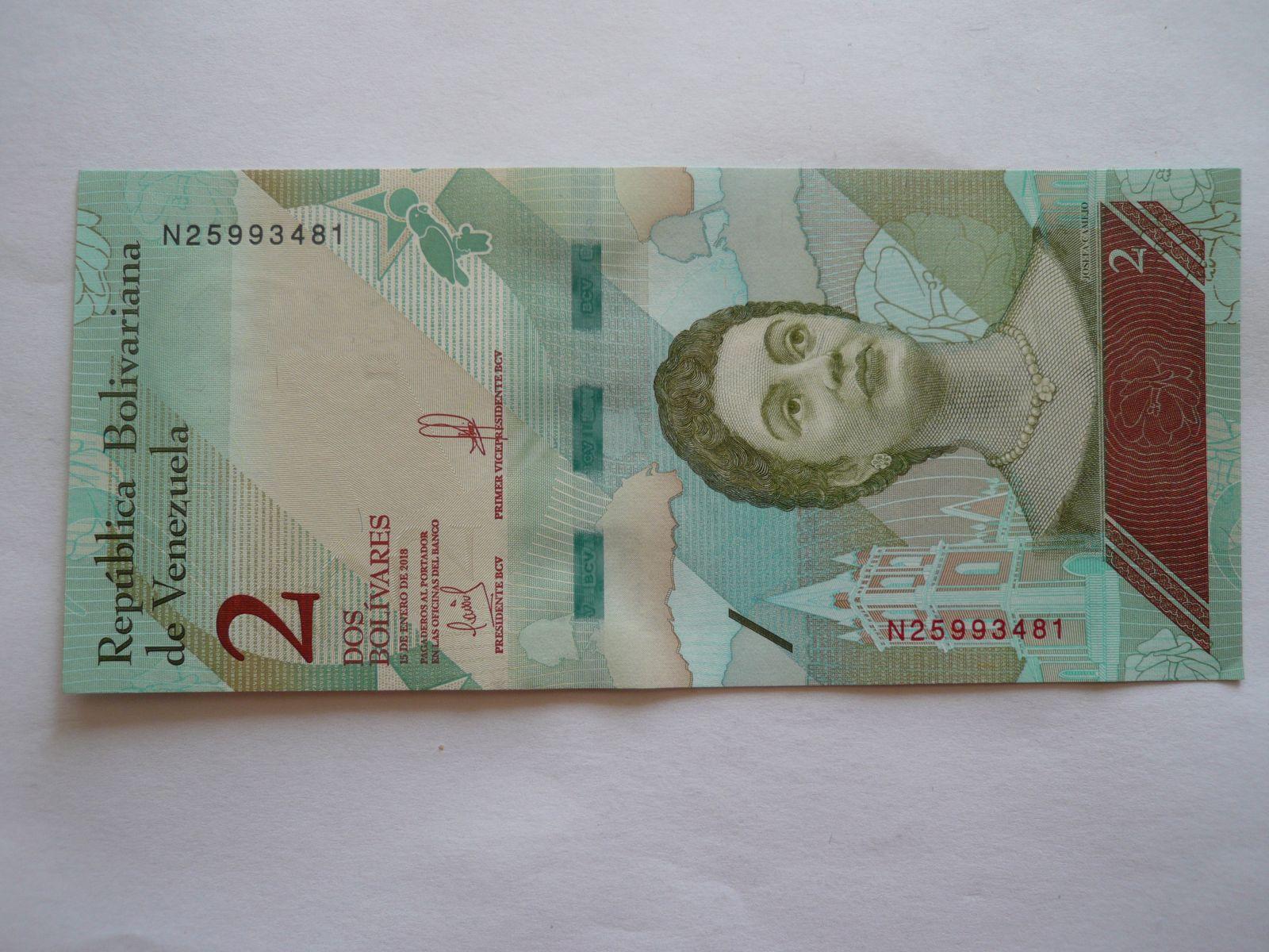 2 Bolivares, 2018 Venezuela