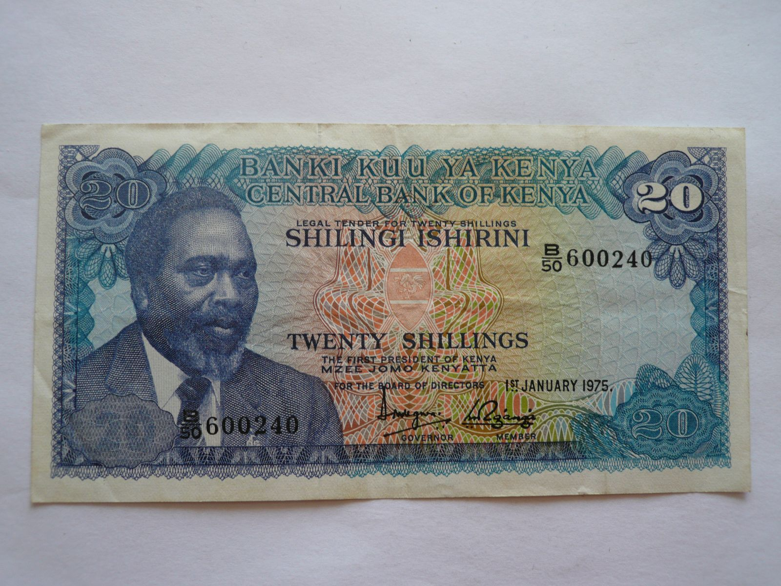 20 Schillings, 1975 Keňa