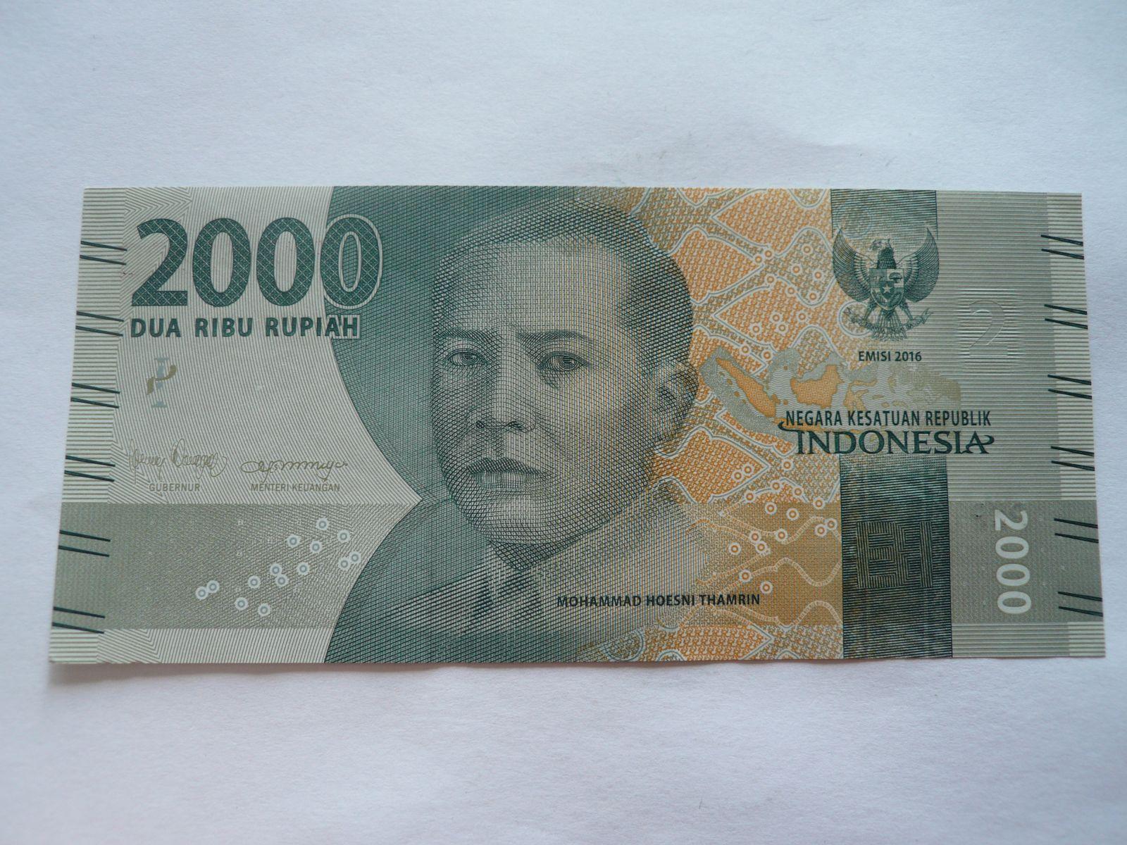 2000 Rupies, 2016, Indonésie