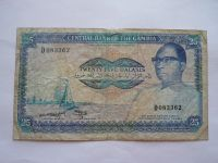 25 Dalasi, modrá+plachetnice, Gambie