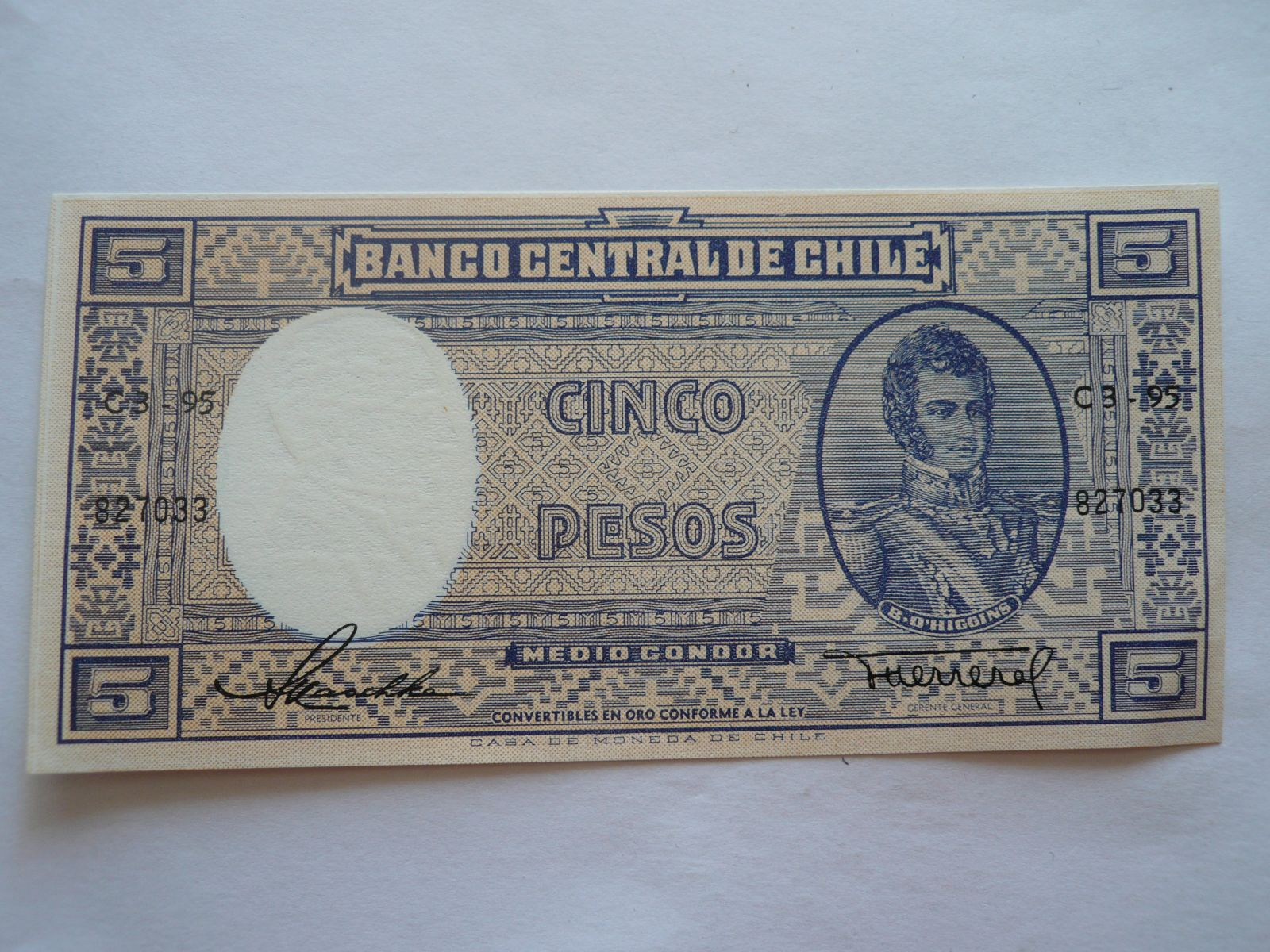 5 Pesos, Higgins, Chile