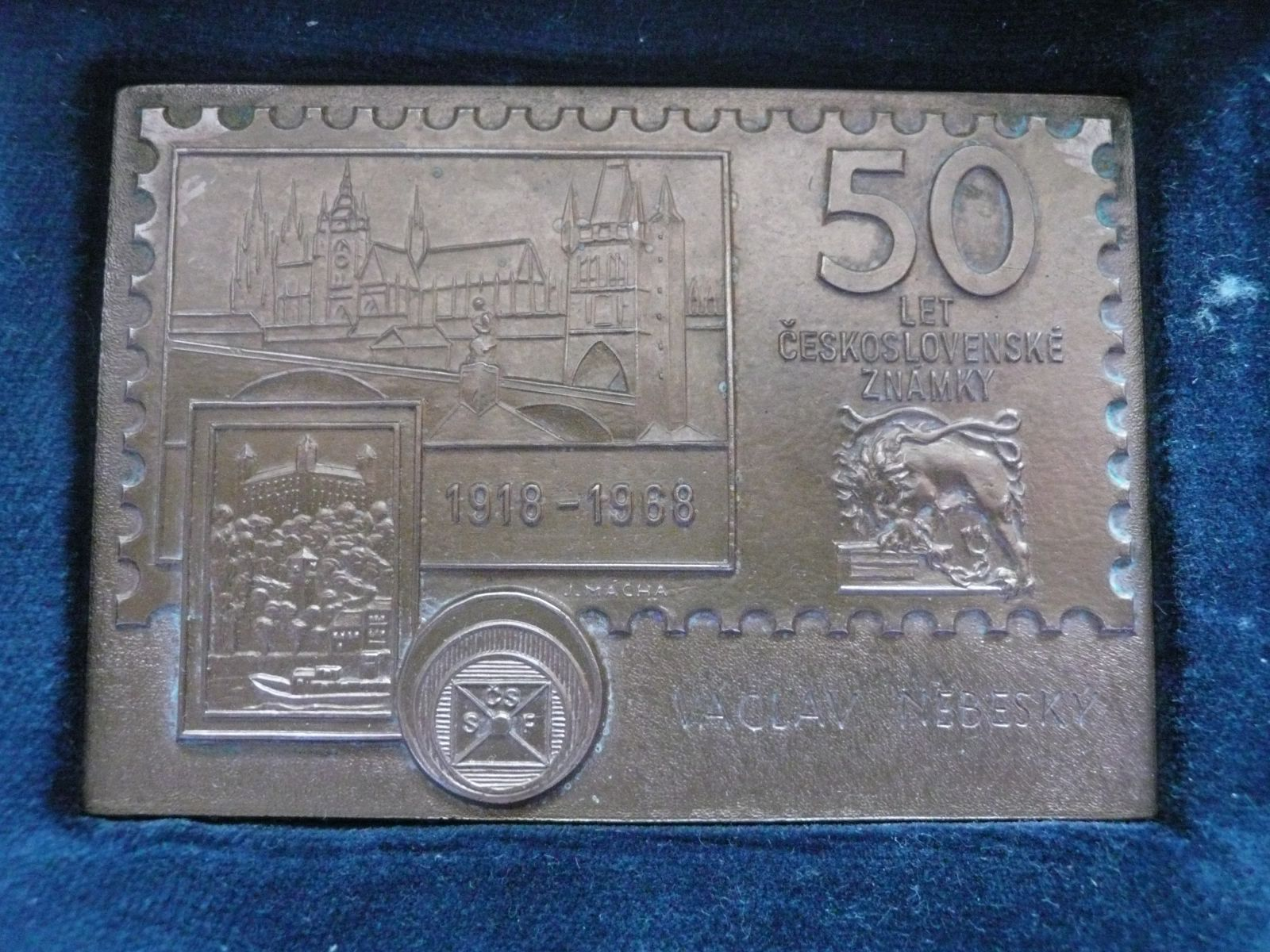 50 let poštovní známky + etue + certifikat, ČSR