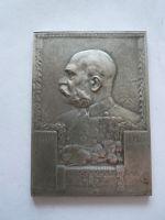 60 let vlády Františka Josefa I., postříbřený bronz, 1908, 55x80 mm, Rakousko