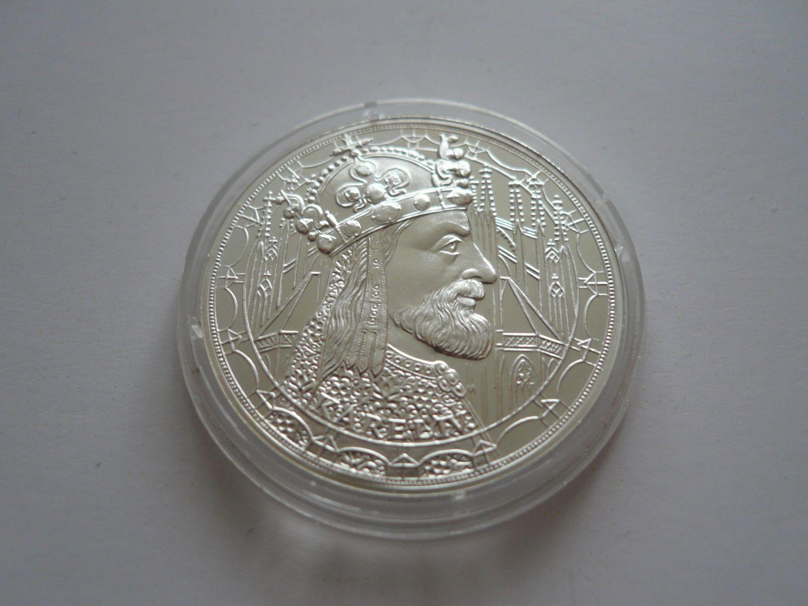 Ag medaile Karel IV., ? 34mm, ČR