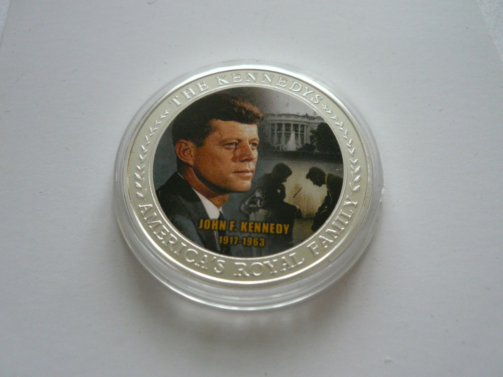 J.F.Kennedy, postříbřená ? 38mm, USA