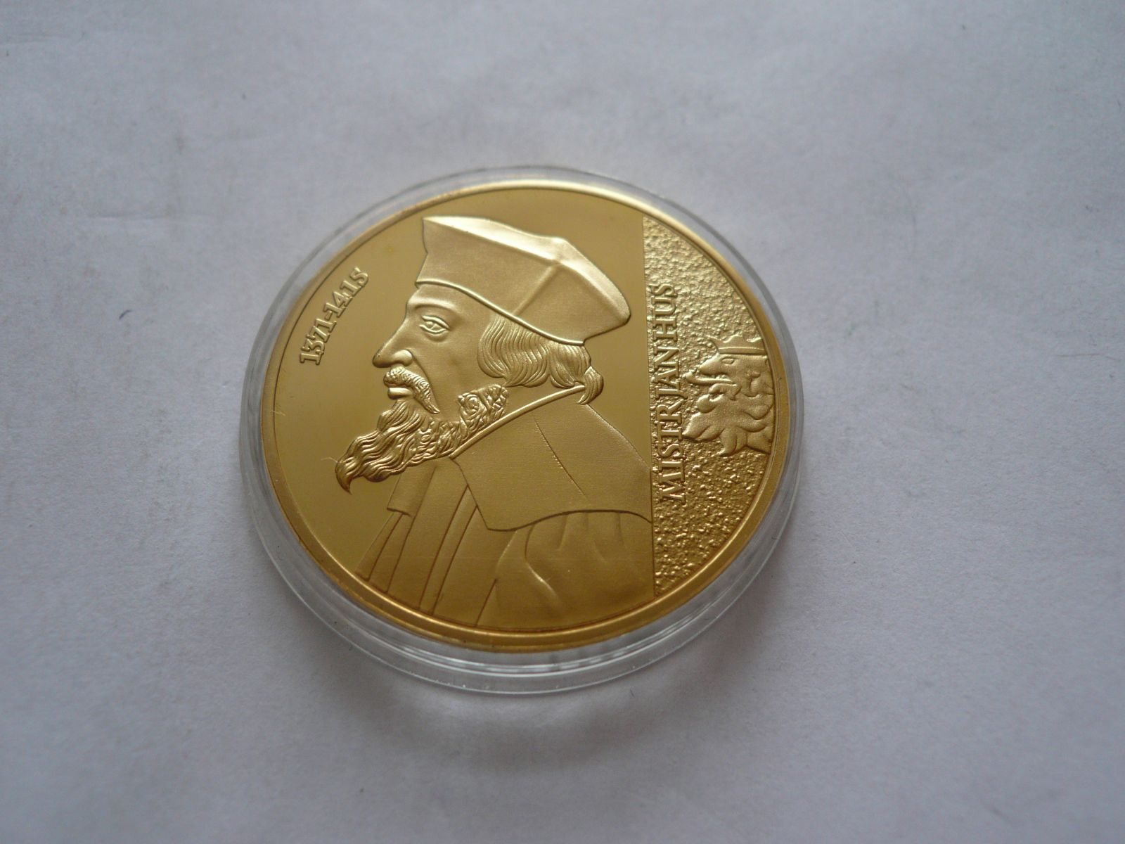 Jan Hus ze sbírky Největší Čech, průměr 40mm, ČR