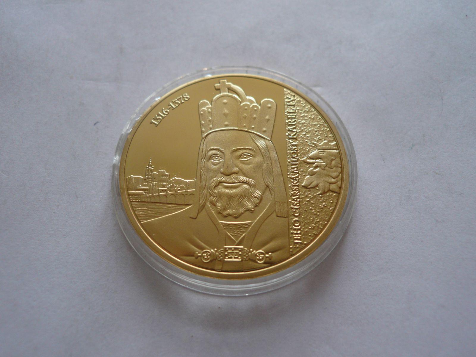 Karel IV.ze sbírky Největší Čech, průměr 40 mm ČR
