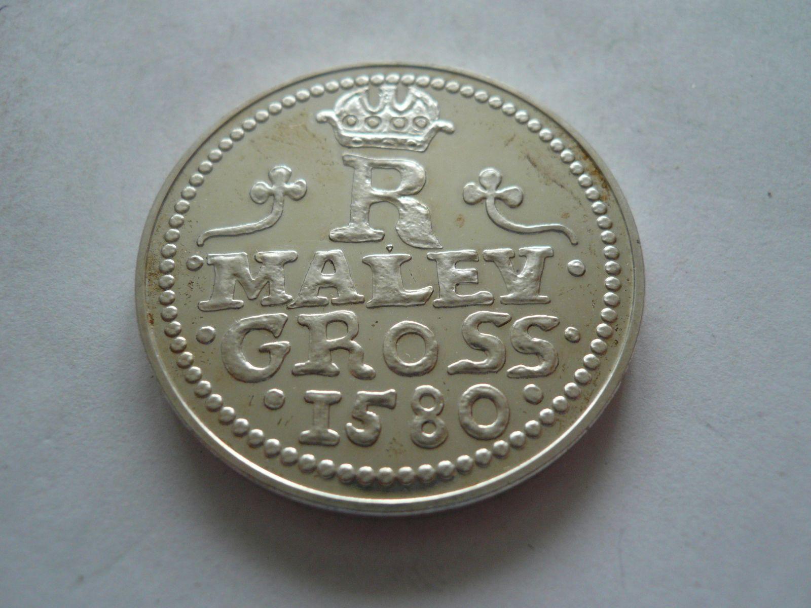 medaile pamětní groš Rudolfa II., ? 38mm, ČSR