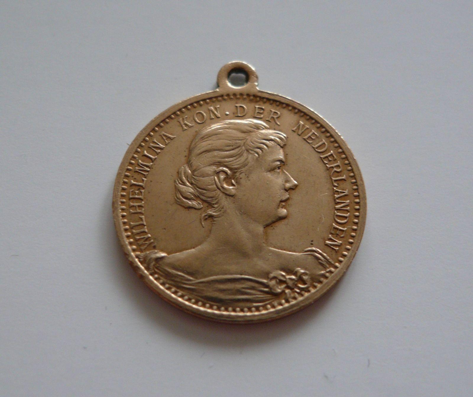 pamětní medaile Wilhelmina, 1880-98, Holandsko