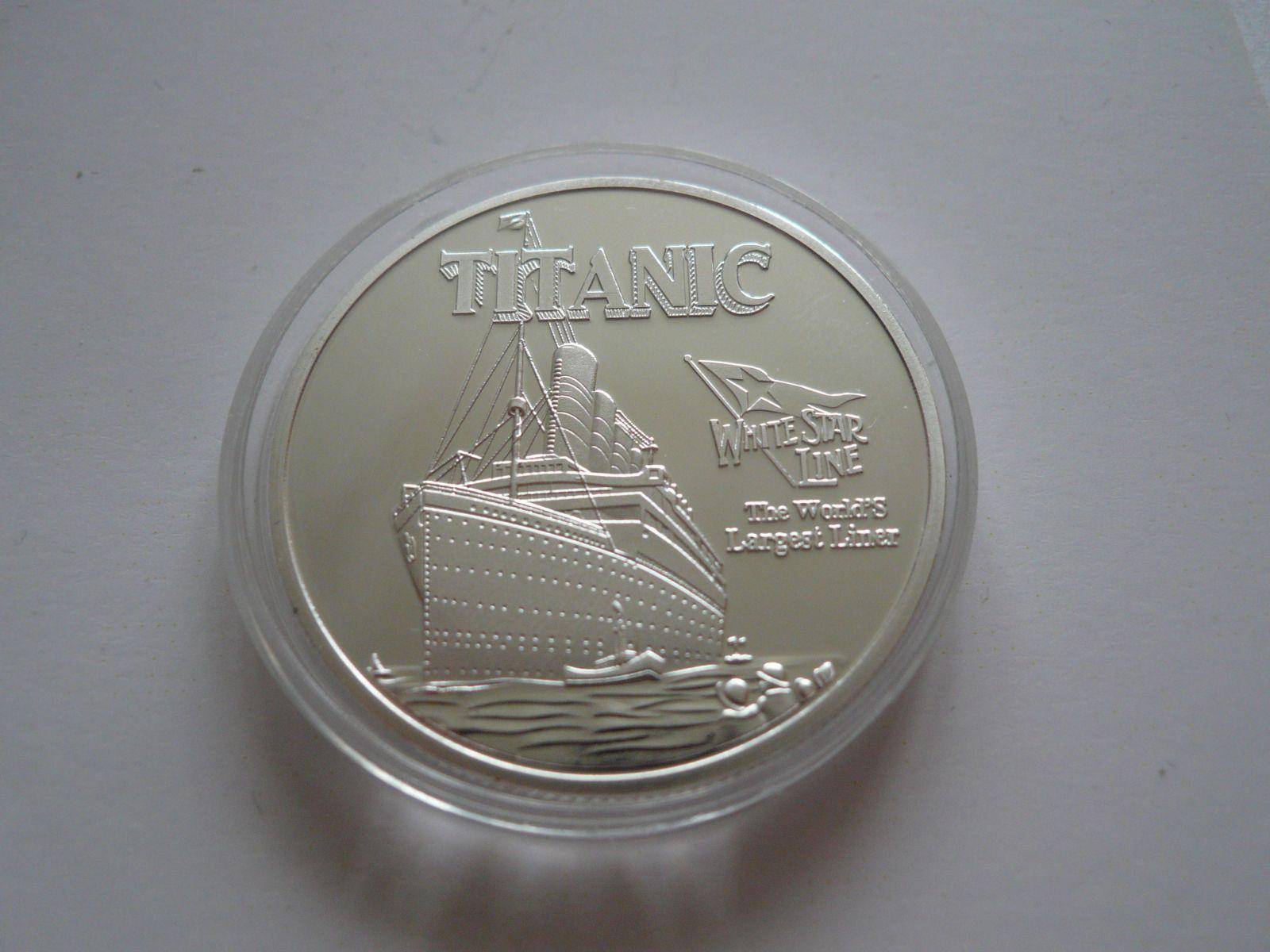 Titanic, postříbřená medaile, ? 40mm, USA