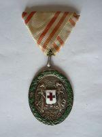Záslužná medaile ČK, r.1914, stříbrná s váleč.dekorací, původní stuha