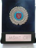 záslužná medaile Ministerstva školství mládeže a tělovýchovy + orig.etue, ČR