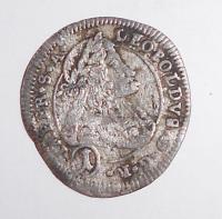 Čechy – Kutná Hora 1 Krejcar 1704 Leopold I.