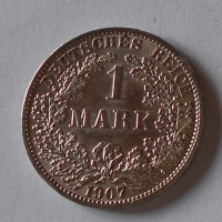 Německo 1 Marka 1907 A