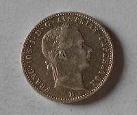 Rakousko 1/4 Gulden/Zlatník 1859 E pěkný