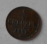 Rakousko 1/4 Krejcar 1851 A