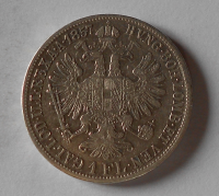 Rakousko 1 Gulden/Zlatník 1857 A