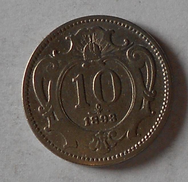 Rakousko 10 Haléř 1893