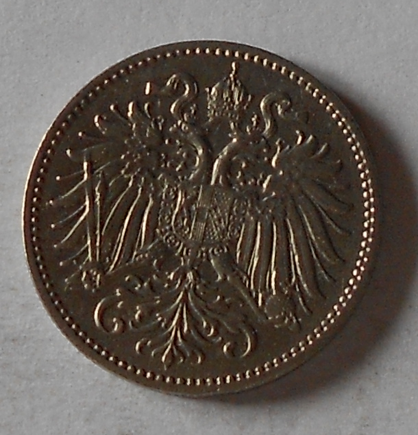 Rakousko 10 Haléř 1894 stav