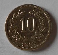 Rakousko 10 Haléř 1916 stav
