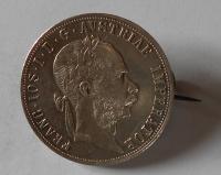 Rakousko 2 Gulden/Zlatník 1882 jako šperk