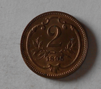 Rakousko 2 Haléř 1895