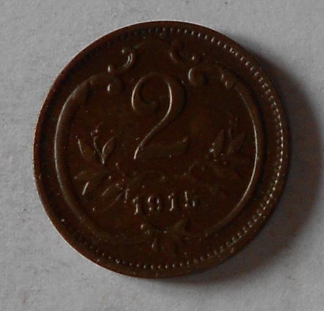 Rakousko 2 Haléř 1915