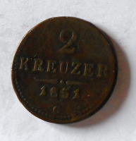 Rakousko 2 Krejcar 1851 G