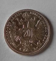 Rakousko 20 Krejcar 1870 stav
