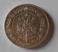 Rakousko 5 Koruna 1909 velká hlava, stav
