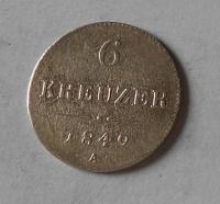 Rakousko 6 Krejcar 1849 A