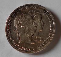 Ralpislp 2 Gulden/Zlatník 1879 Stříbrná svatba, měl ouško