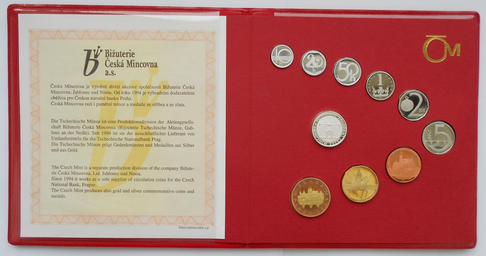 Ročníková sada (2003), stavy PROOF