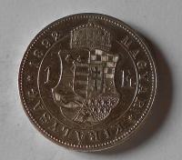 Uhry 1 Gulden/Zlatník 1892 KB stav
