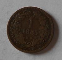 Uhry 1 Krejcar 1885 KB