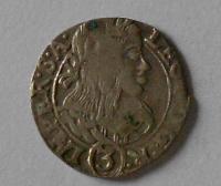 Čechy – Kutná Hora 3 Krejcar 1659 Leopold I.