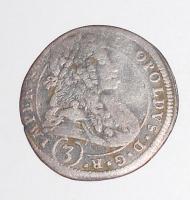 Čechy – Kutná Hora 3 Krejcar 1695 Leopold I.