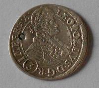 Čechy – Praha 3 Krejcar 1696 Leopold I. dirka