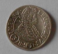 Čechy – Praha 3 Krejcar 1697 Leopold I. dirka