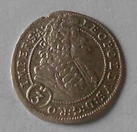 Čechy – Praha 3 Krejcar 1698 Leopold I.