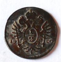 Rakousko 1/2 Krejcar 1800 A František II.