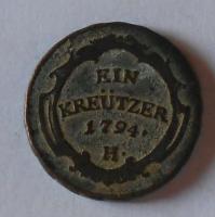 Rakousko 1 Krejcar 1794 H František II.
