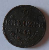 Rakousko 2 Krejcar 1848 A Ferdinand V.