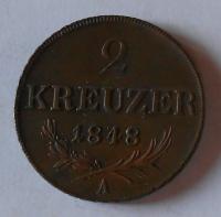 Rakousko 2 Krejcar 1848 A Ferdinand V. pěkná